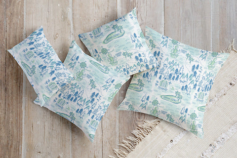 Treasure Map Pillow | Althea & Ruth for Minted | Gifts for Kids that Love Geography & Maps
