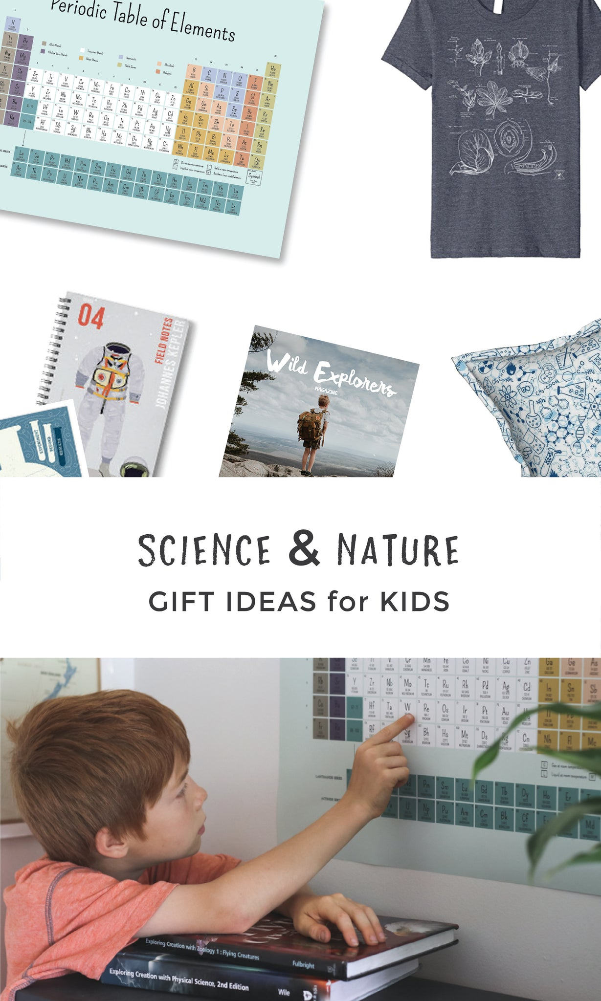 Science & Nature Gifts Ideas for Kids | Non-toy gift guide | Pretty Nerdy Press
