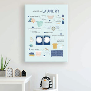How to Do Laundry Light Wall Canvas