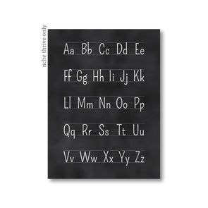 Blackboard Alphabet Art Print
