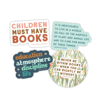 Charlotte Mason Sticker Set | Homeschool Stickers | Pretty Nerdy Press