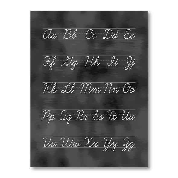 Blackboard Alphabet Cursive Poster for Homeschool or Classroom | Educational Poster | Pretty Nerdy Press