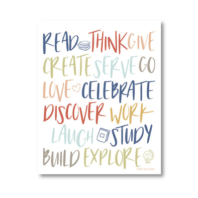 Inspire Creative Learning Printable Art Print | Pretty Nerdy Press