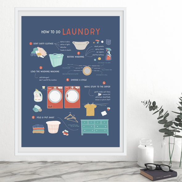 How to Do Laundry Chart for Laundry Room Decor