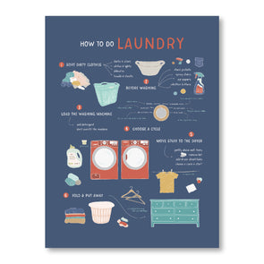 How To Do Laundry Poster Dark