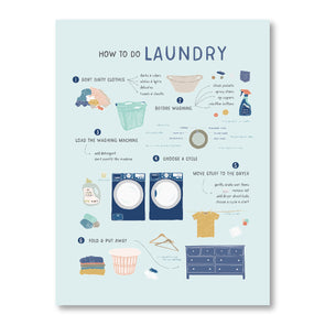 How to Do Laundry Poster for Home and Kids | Pretty Nerdy Press