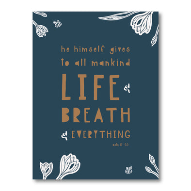 Life & Breath (Navy) Poster