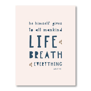 Life and Breath and Everything Poster | Blush Pink| Pretty Nerdy Press