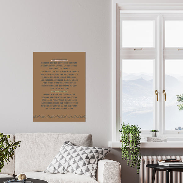 Books of the Bible Boho Wall Art
