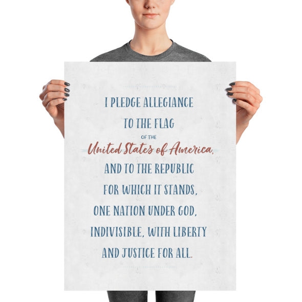 "Pledge of Allegiance Poster for Homeschool or Classroom 18"" x 24"" 