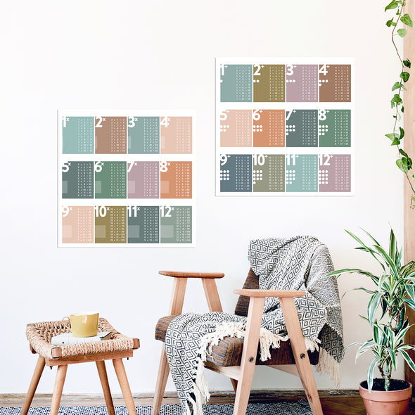 Modern Addition Chart | Educational Math Poster | Pretty Nerdy Press