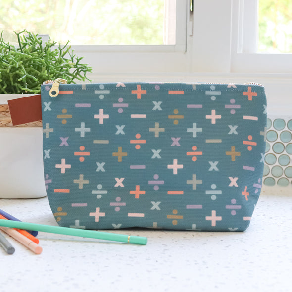 Modern Math School Supply Pouch