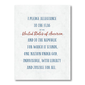 Pledge of Allegiance Poster for Homeschool or Classroom | Pretty Nerdy Press
