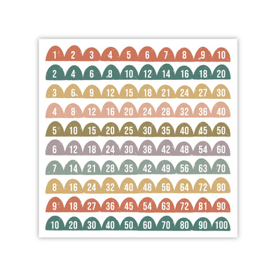 Half Circle Bright Skip Counting Poster | Pretty Nerdy Press