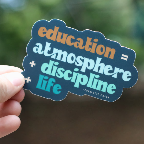 Charlotte Mason Sticker Set | Education is Atmosphere | Pretty Nerdy Press