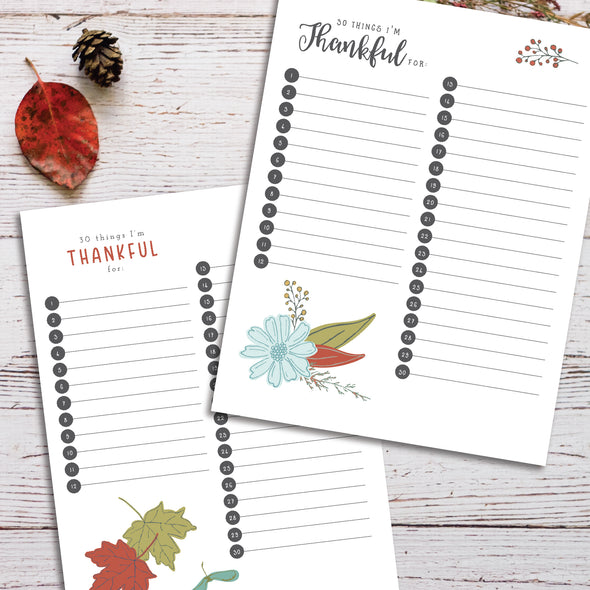 Free Printable Thankfulness Worksheets | Pretty Autumn Homeschool or Classroom Worksheets | Pretty Nerdy Press