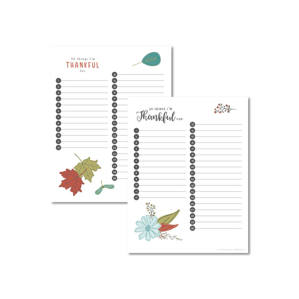 Free Printable Thankfulness Worksheet | Pretty Nerdy Press