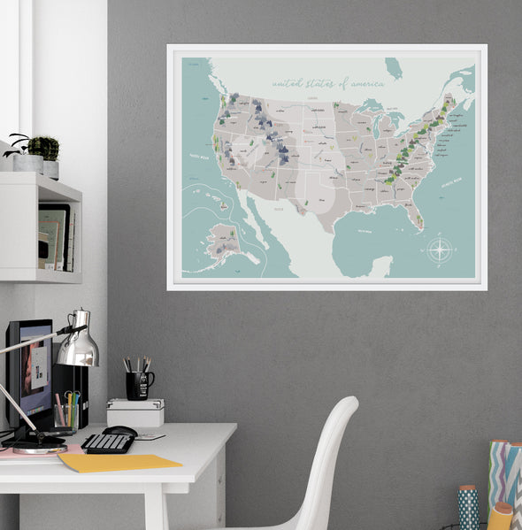 Illustrated Map for Kids Art Print | Pretty Nerdy Press