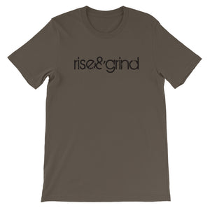 RISE AND GRIND: Men's Short-Sleeve Unisex T-Shirt