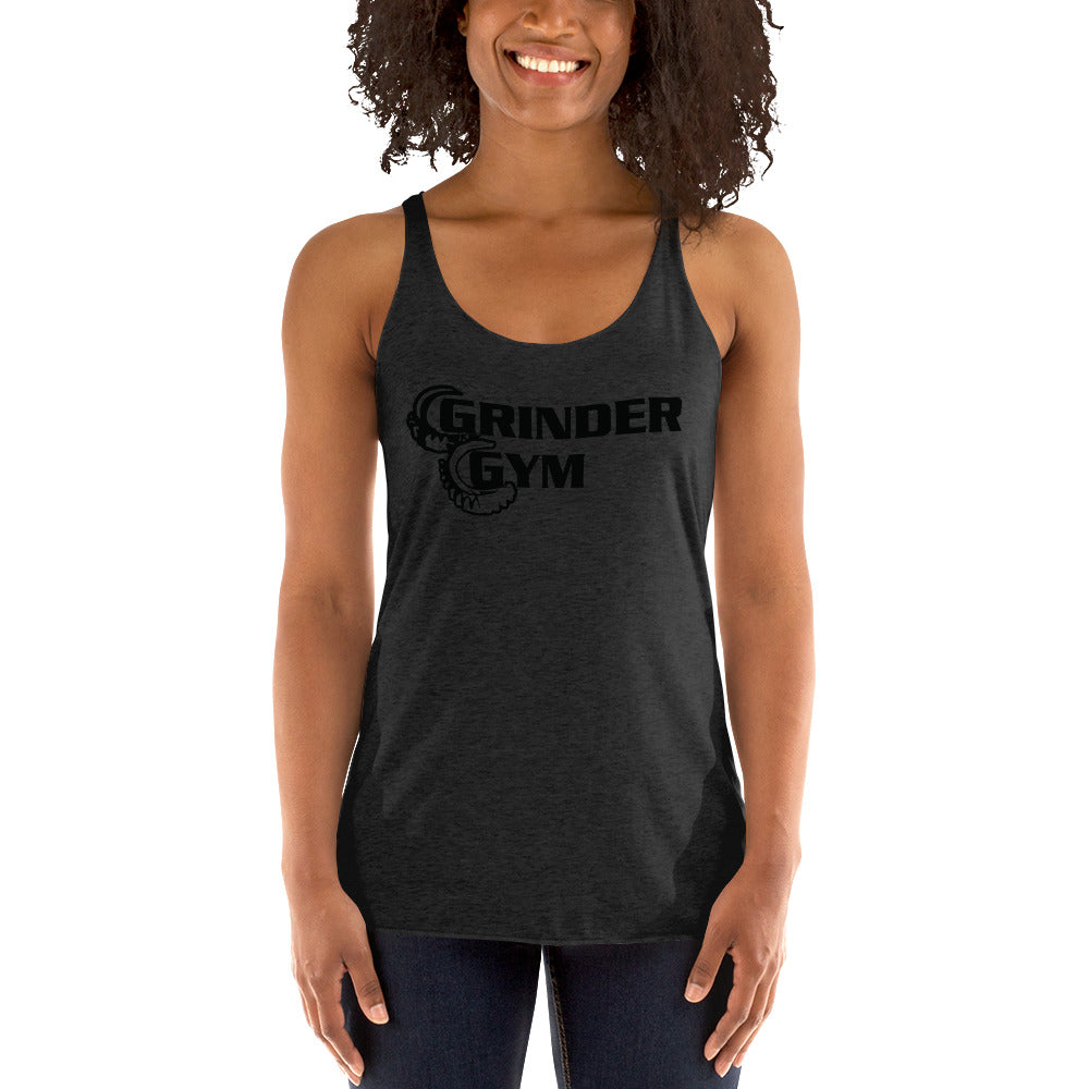 GRINDER GYM: Ladies' Tri-blend Racerback Tank