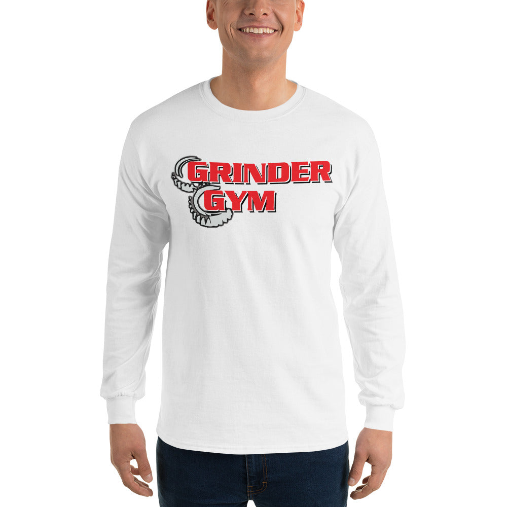 GRINDER GYM: Men's 100% Jersey Knit Long Sleeve T-Shirt