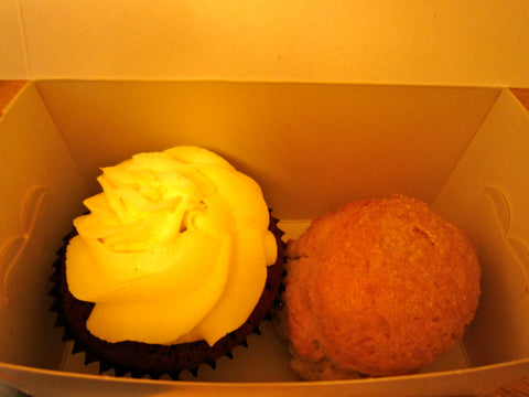 Red Velvet Cupcake and Scone