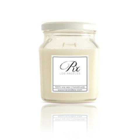 Sweet smelling soy candle from Rx Candles