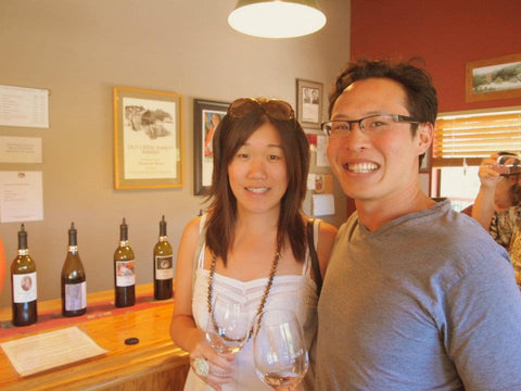Lishan and I at Old Creek Winery
