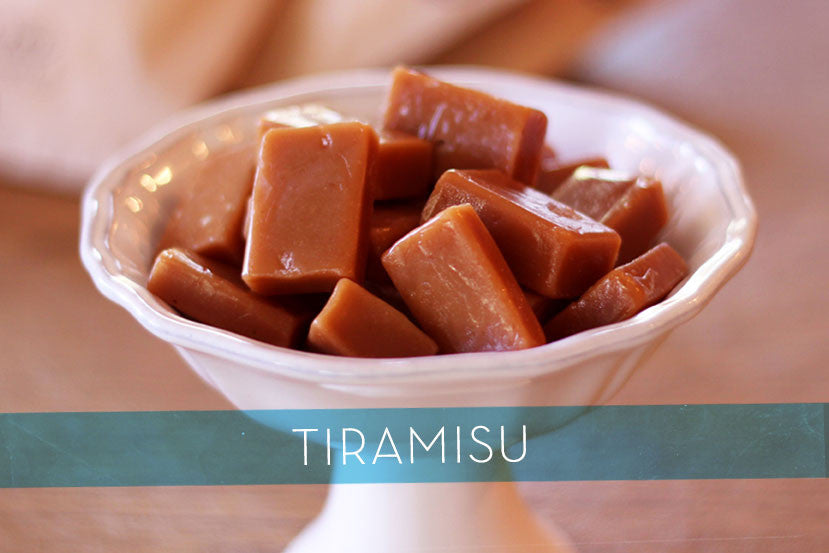 Tiramisu Caramels made with dark chocolate and rich coffee- Perfect Gift for Foodies