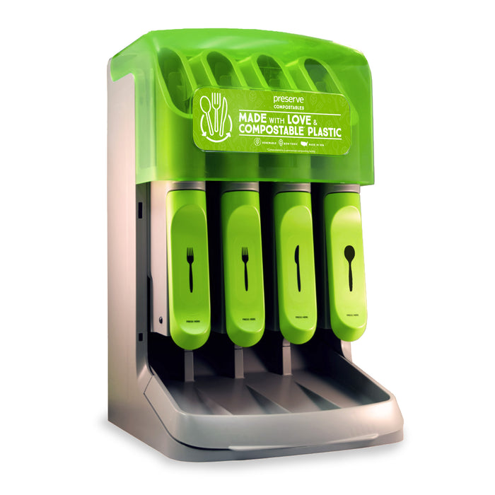 Cutlery Dispenser for Preserve Cutlery (Choose Recycled or Compostable Label)