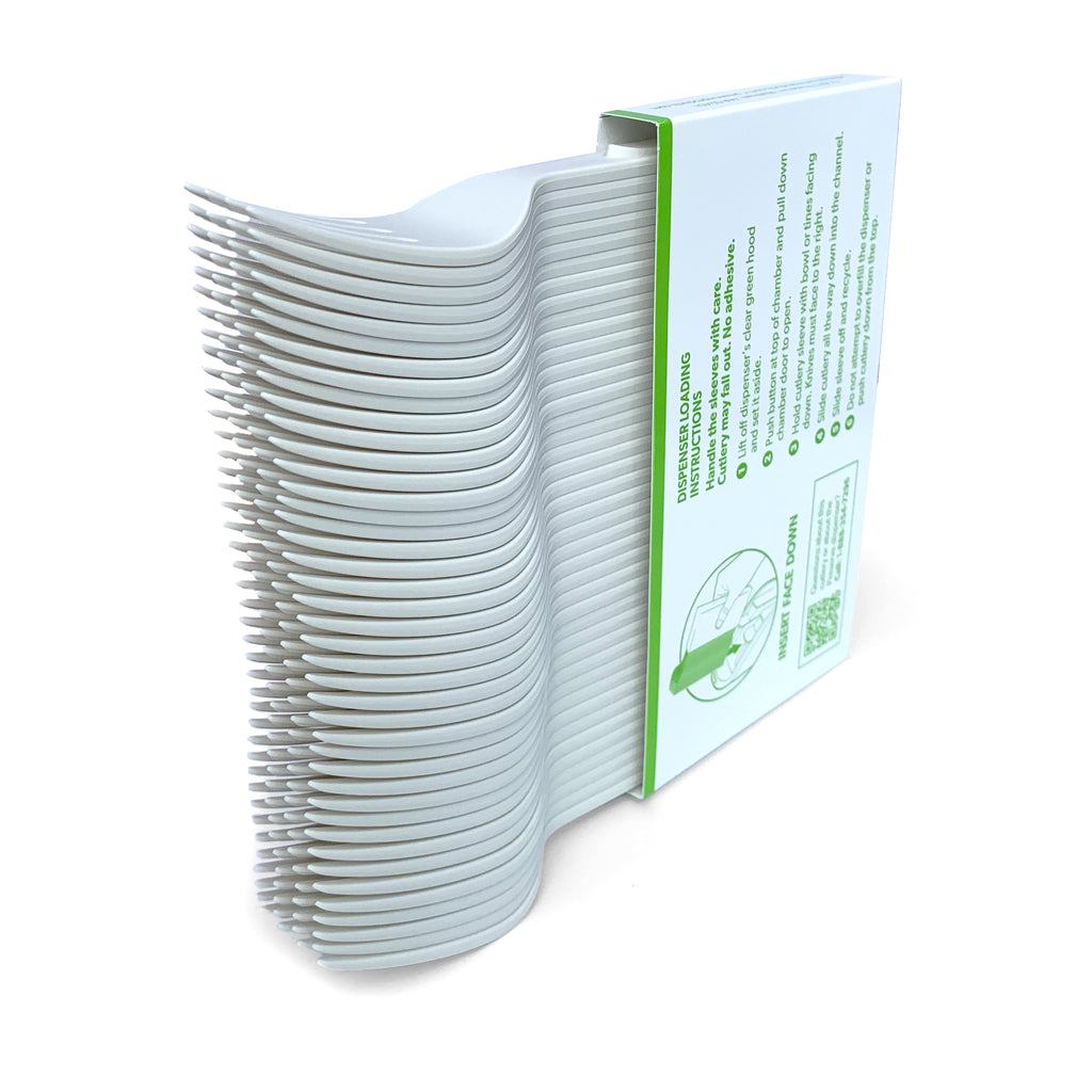 Compostable Medium Weight Sleeved Fork - 840 units