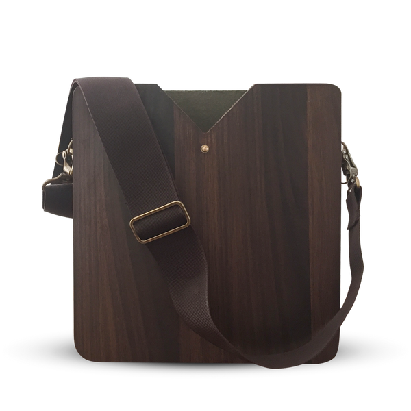 "15"" Laptop Walnut Wooden Carrier"