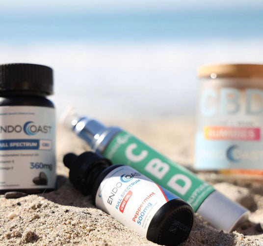 A collection of EndoCoast's CBD products good for beginners