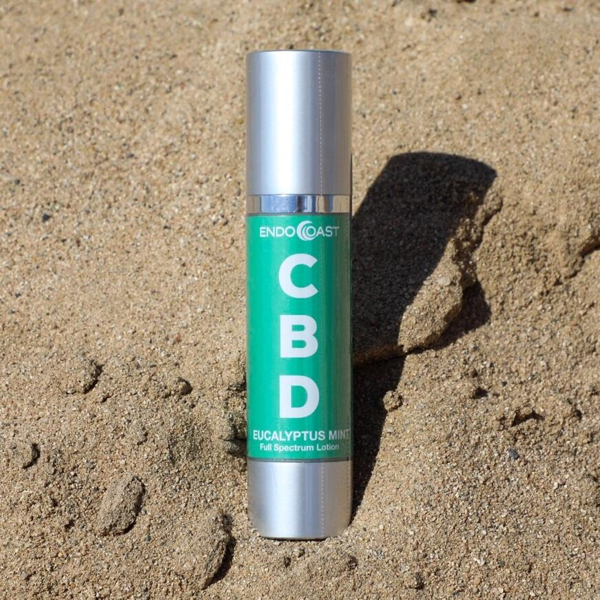 A bottle of EndoCoast's CBD Lotion.
