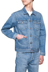 Icon Denim Jacket  Indigo Light Stone MJ001