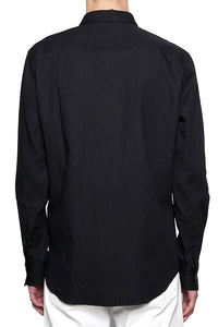 Black Classic Fit French shirts MS001
