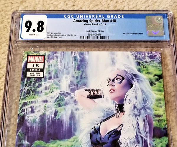 Marvel Comics East Side Comics Eastside Amazing Spider-man 18 Black Cat Hunted Mike Mayhew Variant Cover Exclusive Comicxposure