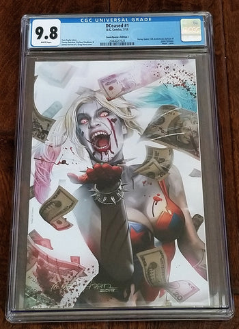 DCeased 1 Harley Quinn Variant Greg Horn DC Comics Batman Who Laughs Harley Who Laughs East Side Comics Comicxposure Exclusive cgc