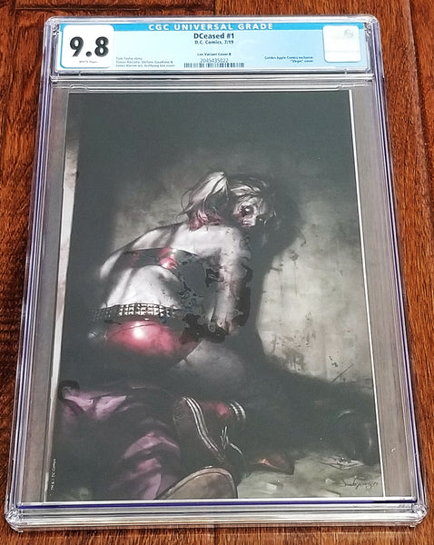 DC Comics East Side Comics Eastside DCeased 1 Harley Quinn Batman Batman Who Laughs JeeHyung Lee Variant Cover Exclusive Golden Apple Comics