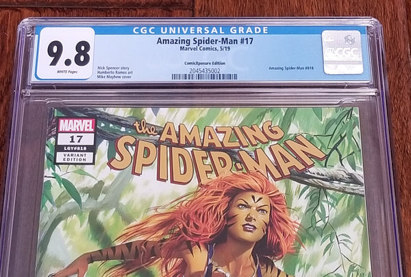 Marvel Comics East Side Comics Eastside Amazing Spider-man 17 Tigra Hunted Mike Mayhew Variant Cover Exclusive Comicxposure