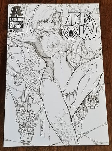 WHITE WIDOW 2 MIKE DEBALFO B&W COLORING SKETCH KICKSTARTER VARIANT-U