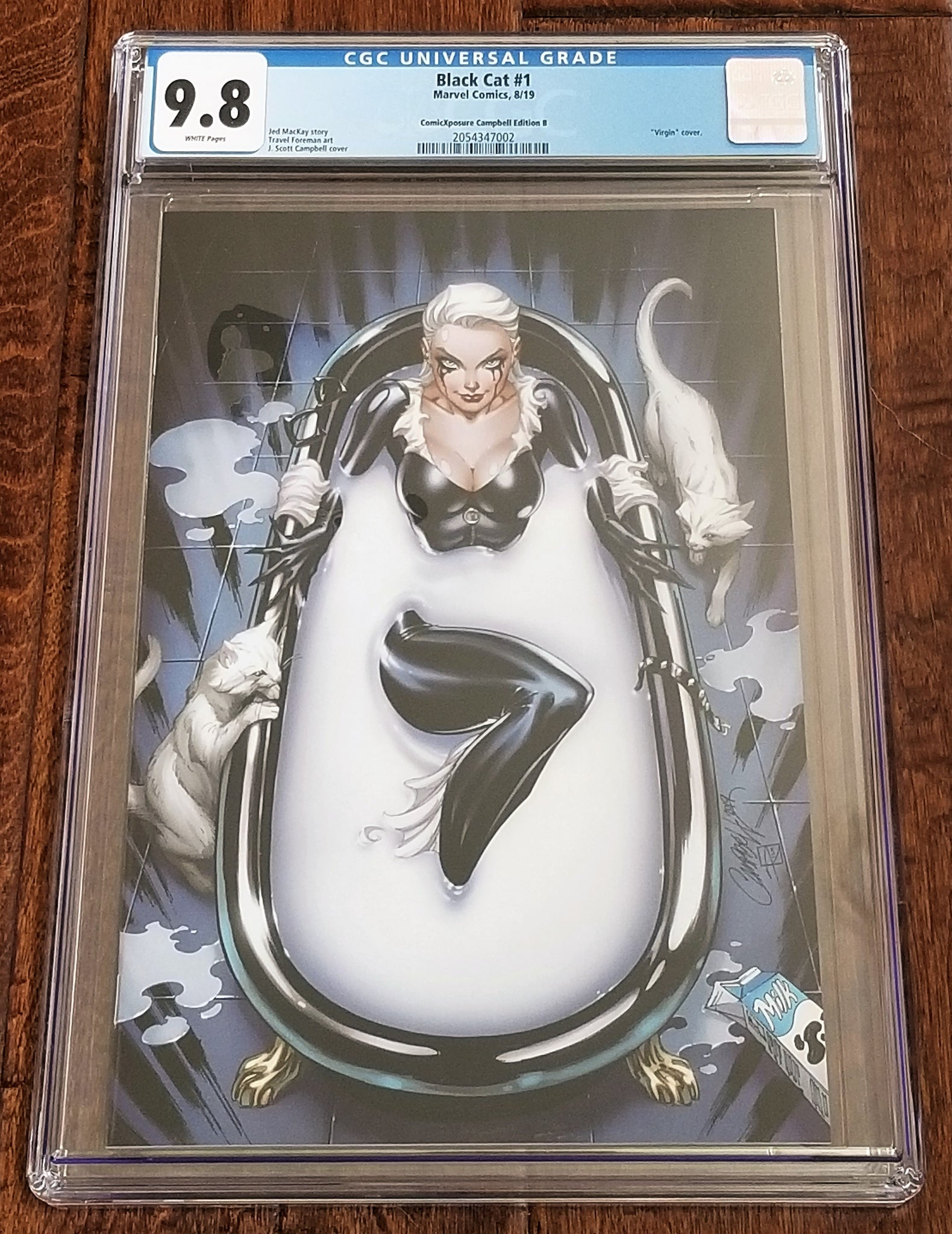 Black Cat 1 Marvel Comics East Side Comics Eastside Amazing Spider-man J Scott Campbell Bathtub Virgin Variant Cover Exclusive Comicxposure