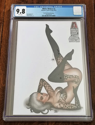 White Widow 2 Absolute Comics East Side Comics Eastside Nathan Szerdy Jamie Tyndall Sketch up Bombshell Variant Cover Exclusive