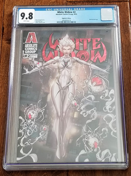 White Widow 2 Absolute Comics East Side Comics Eastside Jamie Tyndall Nightfall Red Holofoil Variant Cover Exclusive