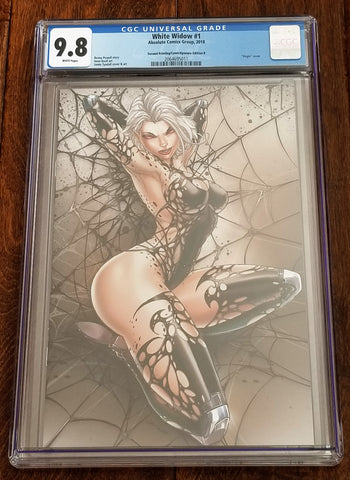 White Widow 1 2nd Print Absolute Comics East Side Comics Eastside Jamie Tyndall Naughty Comicxposure Variant Cover Exclusive