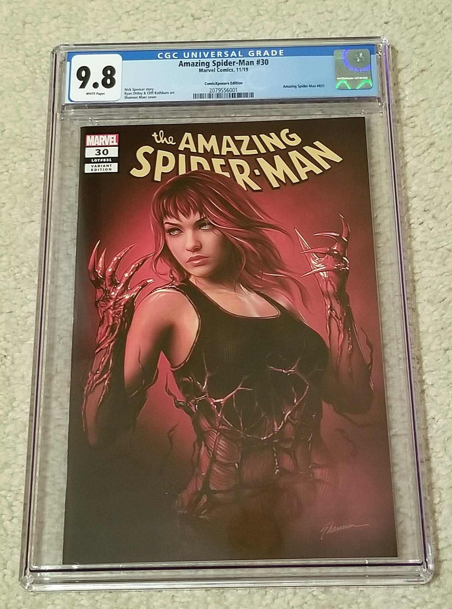 Amazing Spider-man 30 Spiderman Shannon Maer Variant DC Comics Marvel Comics Venom Carnage Mary Jane East Side Comics Comicxposure Virgin Exclusive cgc NYCC New York Comic Con