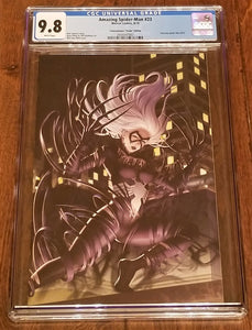 AMAZING SPIDER-MAN 23 CGC 9.8 WOO DAE SHIM VENOMIZED BLACK CAT VIRGIN VARIANT