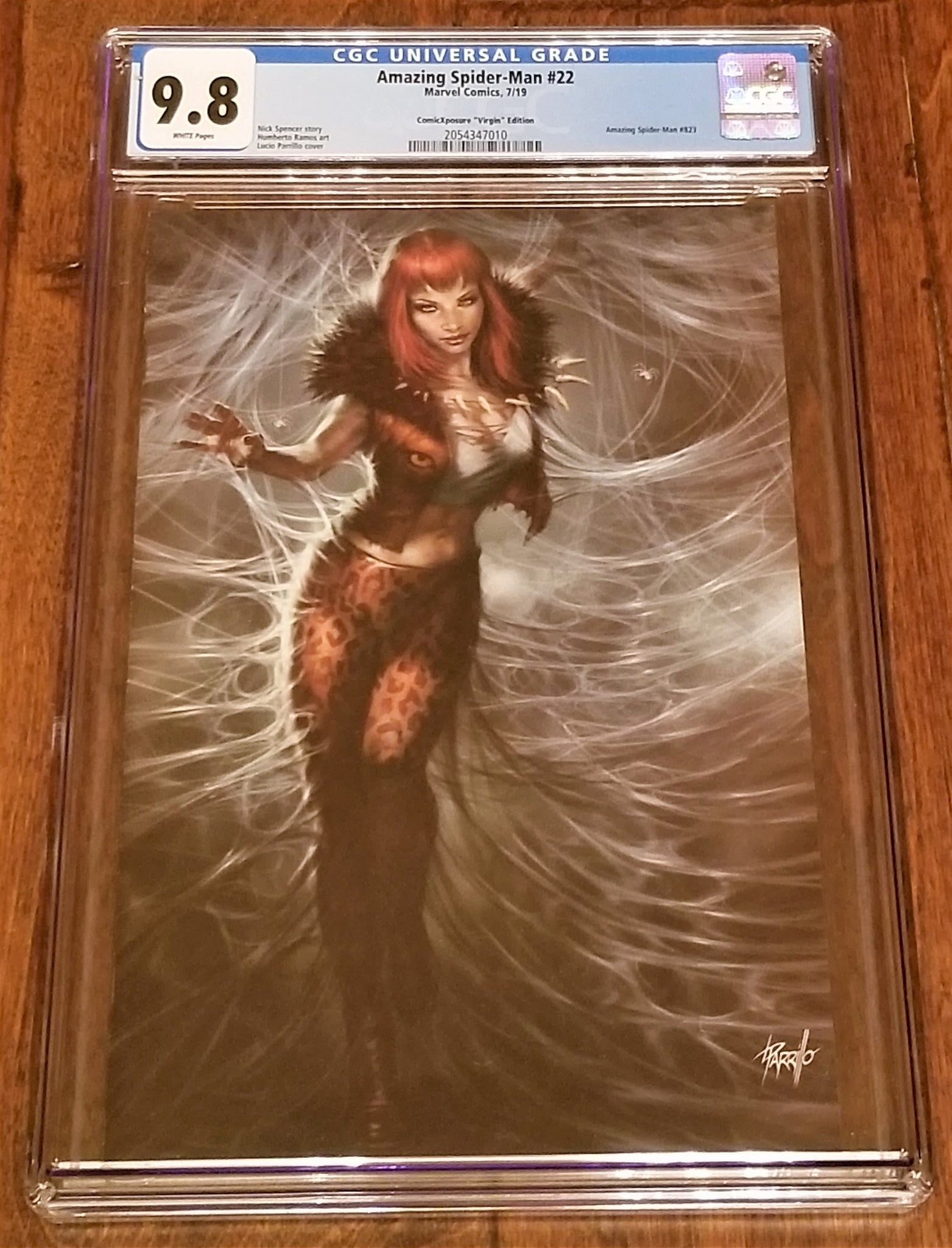 Amazing Spider-man 22 Spiderman Lucio Parrillo Variant DC Comics Marvel Comics Venom Carnage Mary Jane East Side Comics Comicxposure Virgin Exclusive cgc