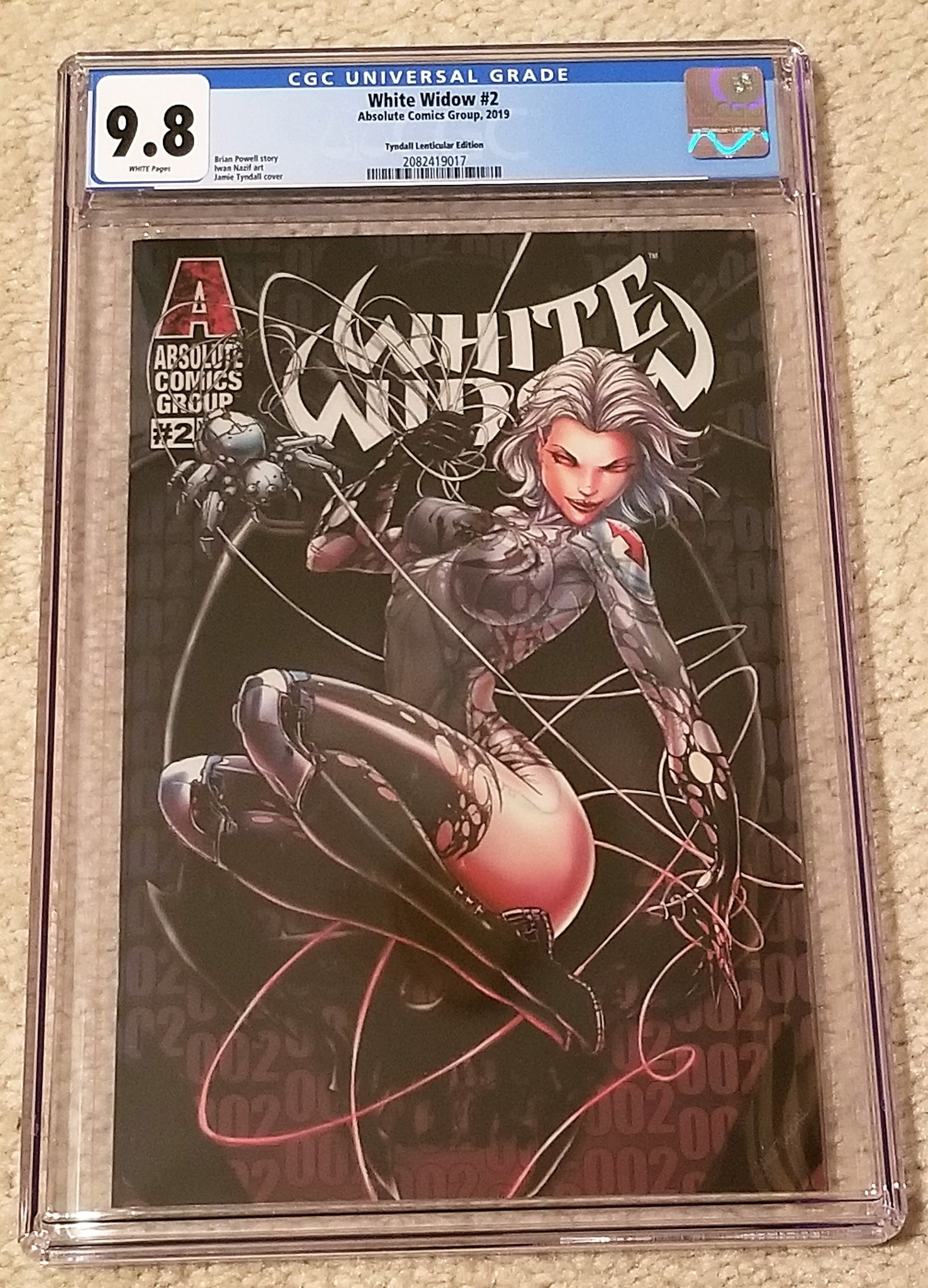 White Widow 2 Absolute Comics East Side Comics Eastside Amazing Spider-man Homage Jamie Tyndall Lenticular Variant Cover Exclusive