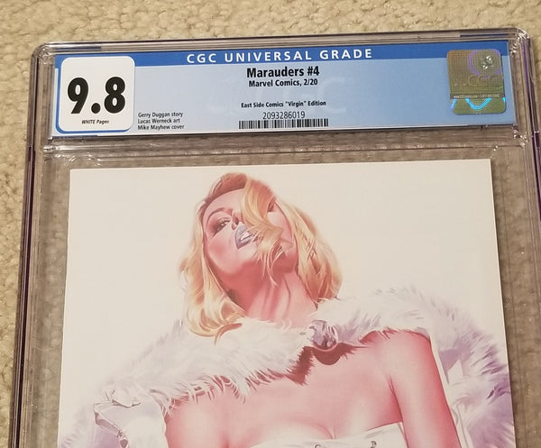 Marauders 4 Mike Mayhew White Queen Virgin Variant DC Comics Marvel Comics X-Men Venom Spider-man East Side Comics Virgin Exclusive cgc comics